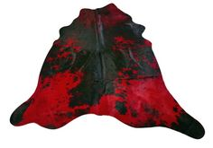 Red Cowhide Rug Size: 7.4 X 7.4 ft Red Dyed on by Cowhidesusa