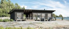 Helsinki based designers Pluspuu offer modern log cabin kit homes in a variety of styles. Best Modular Homes, Cabin Kit Homes, Modern Log Cabins, Kings Home, Prefab Cabins, Small Cottages, Modern Cottage, Cottage Interiors, Small House Design