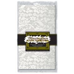 Masterpiece Plastic Lace Rectangular Tablecover (white) Party Accessory (1 count) (1/Pkg) : Amazon.com : Kitchen & Dining