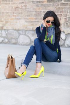 Neon pumps for spring...