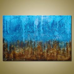 Original Abstract Painting Heavily Textured by BrittsFineArt