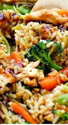 Teriyaki Chicken Casserole By recipeteacher.us This Teriyaki Chicken Casserole is one youll love and even the kiddos too. Asian Recipes, New Recipes, Healthy Recipes, Recipies, Healthy Food, Recipes Dinner, Easy Chinese Food Recipes, Drink Recipes, Healthy Chinese