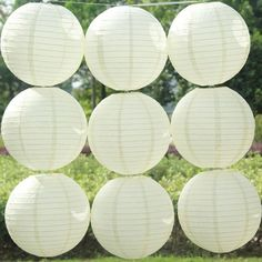 "4"" 8"" 12"" 16"" 20"" 10 Pcs White Chinese Paper Lantern Wedding Party Decoration It 