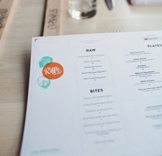 Menu design for Riffle NW in Portland, OR from Art of the Menu