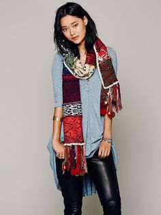 Free People Folkloric Patch Scarf, $168.00