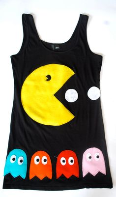 Womens Pacman and Ghosts Tank Top Tunic by coyotepeyote on Etsy, $70.00 More