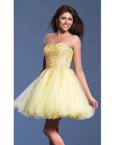 Yellow Beaded Dress