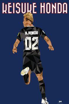 Keisuke Honda Japón Fútbol Tuzos del Pachuca Fútbol Mexicano Pachuca LowPoly