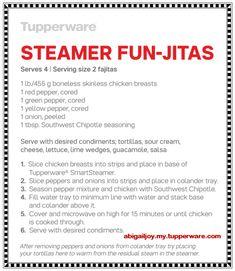 Funjitas #recipe in the #Tupperware #SmartSteamer