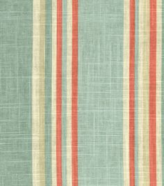 A simple striple with multiple colors. Perfect for mix and match applications, easily complement any design theme you have at home.  Content: 55% Linen, 45% Rayon Width: 54 Inches Fabric Type: Print U