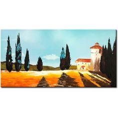 Spokojne, idylliczne krajobrazy pełne słońca. Miasta i miasteczka Toskanii mają niepowtarzalny urok, który postanowiliśmy przenieść na obrazy ręcznie malowane. #obrazy #recznie #malowane #tryptyki #dekoracje #ścienne #sztuka #malarstwo #wnętrza