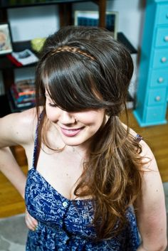 Tutorial: Braid Headband (with a side pony)
