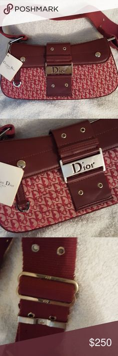 Vintage Street Chic Dior Inspired Vintage Christian Dior beautiful inspired bag. comes with side attachments can take off and put on as you like. front buckle with magnetic closure. No scratches or marks on or inside the bag. Pristine condition. Gorgeous bag Bags Shoulder Bags