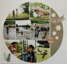 love the photos in a circle.