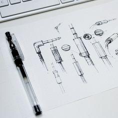 rendering sketch headphones - Google Search