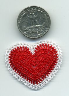 Miniature Heart Pillow for your Dollhouse by BlackLeopardCreation,