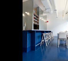 nice example of a bold linoleum floor choice scott scott architects kin kao thai kitchen