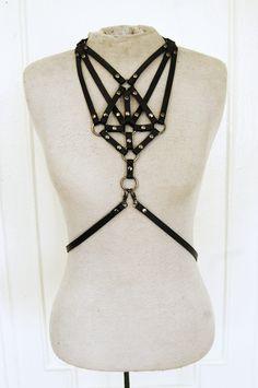 Zana Bayne leather Necklace harness.