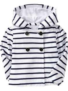Striped Hooded Jackets for Baby, oh how fashionable my baby will be, someday