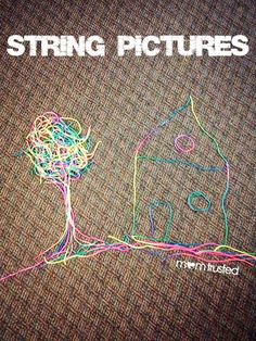 Do this fine motor activity with your kids on a rainy day or when it's just too darn hot to be outside!  Sting pictures for fun, art, or storytelling.