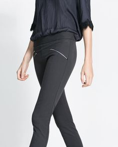 ae24522efc Image 5 of SKINNY TROUSERS WITH ZIPS from Zara Fashion Over 50
