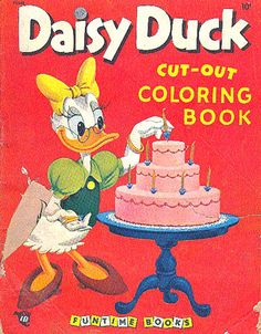 Daisy Duck Coloring Book, 1953