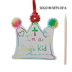An easy activity for Preschools or Sunday Schools. Use as a door knob hanger or a Christmas ornament!