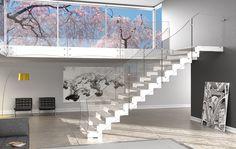 Rexal_XC | Scale in vetro, scale moderne, scale interne, scale a chiocciola, scale elicoidali, parapetti in vetro, ringhiere in vetro, parapetto in vetro, scale per interni, scale da interni, balaustre in vetro, ringhiera in vetro