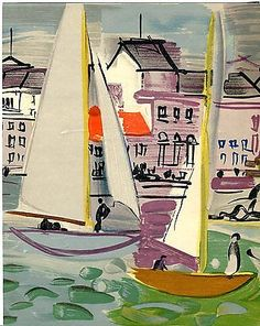 """Venice"" by Raoul Dufy Lithograph from The Hirschl Adler Exhibition Catalogue 