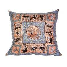 Hermès 'Musique Des Dieux' Silk Scarf Pillow with Linen Backing