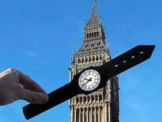 ABOUT FACE: Big Ben tower is now a handy wristwatch...