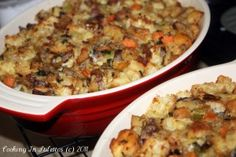 Ciabatta Chestnut Stuffing - perfect for the holidays! http://cookinginstilettos.com/ciabatta-chestnut-stuffing/ #Stuffing