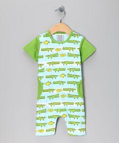Green Latergator Romper - Infant