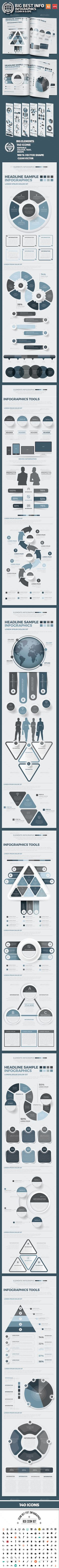 Big Best Infographics Design — Vector EPS #timeline #simple • Available here → https://graphicriver.net/item/big-best-infographics-design/17720232?ref=pxcr
