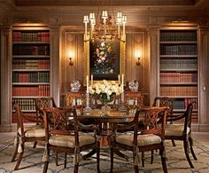 Elegant formal Dining Room and/or Library... as little as most people use either one, why not combine them?