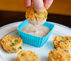 Cheesy Quinoa Bites - How fun is this for a veggie/whole grain version of every kids' favorite chicken nugget?!! I will be trying this when my grandkids show up next month.