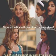 Pretty Little Liars Omg😂😂 ah how innocent and young and A free they were back then🙂💋 Prety Little Liars, Watch Pretty Little Liars, Pretty Little Liars Quotes, Best Tv Shows, Best Shows Ever, Favorite Tv Shows, Hanna Marin, Pll Memes, Funny Memes