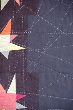 "posted by ""Quilt it"".love the abstract quality of the radiating lines."