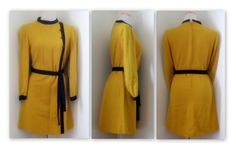 Vintage 1960s Mustard Yellow Mod Dress // SUSAN by rockvintagesoul, $48.00
