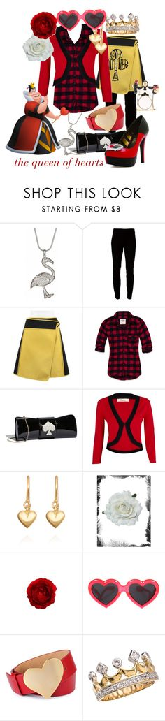 """""""The Queen of Hearts"""" by princesschandler ❤ liked on Polyvore featuring PDB, Helmut Lang, Reed Krakoff, Abercrombie & Fitch, Kate Spade, Precis Petite, Marian Maurer, Linda Farrow, Diane Von Furstenberg and verna felton"""