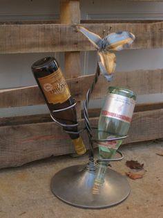 So crafty! Custom Made Wine Holder. #wine