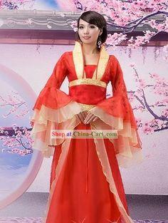 Ancient Chinese Wedding Hanfu Clothing for Women