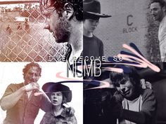 """Rick and Carl Grimes from The Walking Dead. """"I've become so numb."""" #TWD edit"""