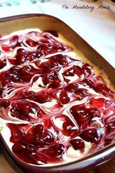 Cherry Cheesecake Surprise Layered Dessert I got this recipe years ago from a friend of mine. I remember thinking that it looked so complicated and tasted so decadent. I was ver. 13 Desserts, Cherry Desserts, Layered Desserts, Cherry Recipes, Dessert Dips, Pudding Desserts, Cherry Cake, Cherry Cheescake, Cherry Delight Dessert