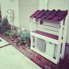 Toiroさんの、室外機カバーDIY,多肉棚,多肉,DIY,庭,手作り,玄関/入り口,のお部屋写真