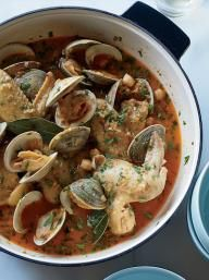 Beer-Braised Chicken Wings with Clams and Chickpeas | KitchenDaily.com