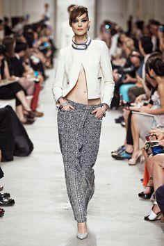 Chanel Resort 2014 runway fashion- wrap front trousers