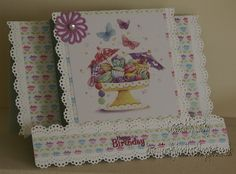 For further details of products used to make this card please go to my blog:-  http://kraftykoolkat.blogspot.co.uk/2015/08/sparkles-monthly-challenge-ch-71-dt-card.html Thank you Hugs Cathy xxxx