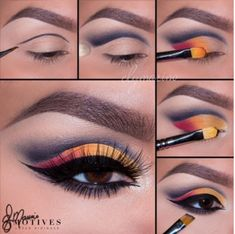 Get the Look with Motives® Sunrise Makeup Tutorial Sunrise Makeup Tutorial with Motives makeup - eye-makeup Makeup Goals, Makeup Inspo, Makeup Art, Hair Makeup, Makeup Ideas, Makeup Tutorials, Tiger Makeup, Beauty Makeup, Eyeliner