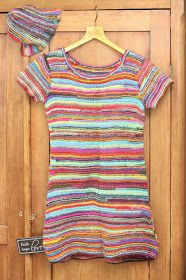 Ihan Kaikki Kotona: Räsymattomekko Crochet Top, Kids Outfits, Knitting, Mens Tops, T Shirt, Clothes, Dresses, Women, Rug